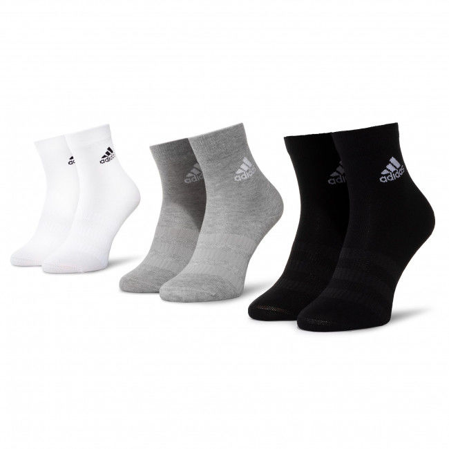 Zestaw 3 par wysokich skarpet unisex adidas - Ligth Crew 3Pp DZ9392 Mgreyh/White/Black