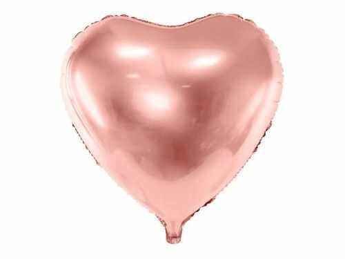 Balon duże Serce, różowe złoto, hitowy kolor sezonu