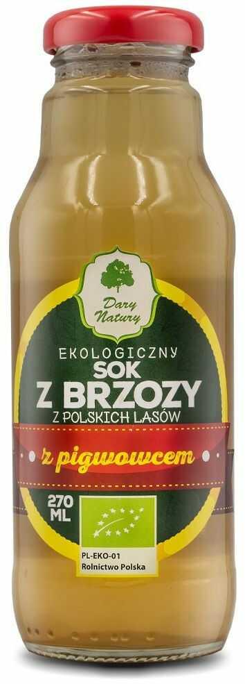 SOK Z BRZOZY Z PIGWOWCEM BIO 270 ml - DARY NATURY