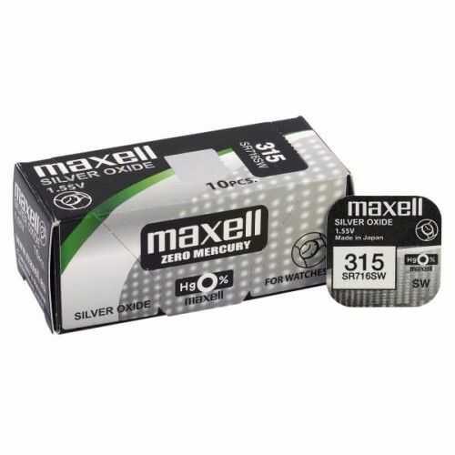 bateria srebrowa mini Maxell 315 / 314 / SR 716 SW