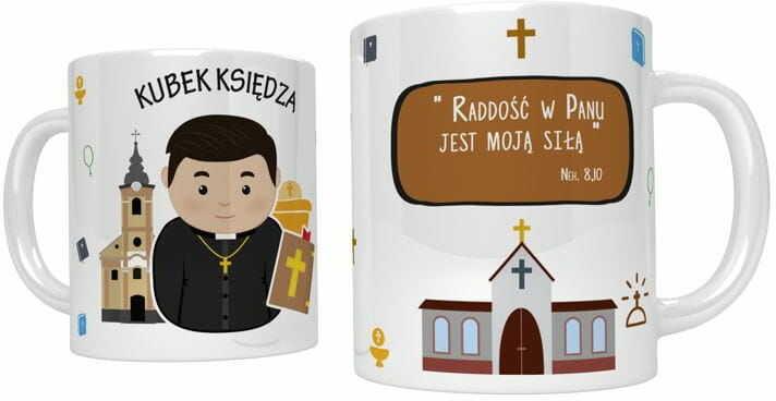 Kubek religijny dla księdza