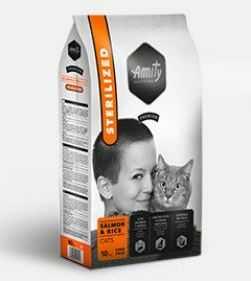AMITY premium cat STERILISED salmon/rice