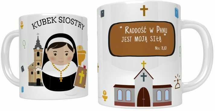 Kubek religijny dla siostry