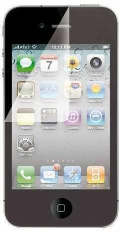 ICIDU Screen Overlay obudowa ochronna do Apple iPhone 4/4S, ze ściereczką do czyszczenia z mikrofibry)