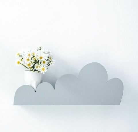 Półka chmurka - szara
