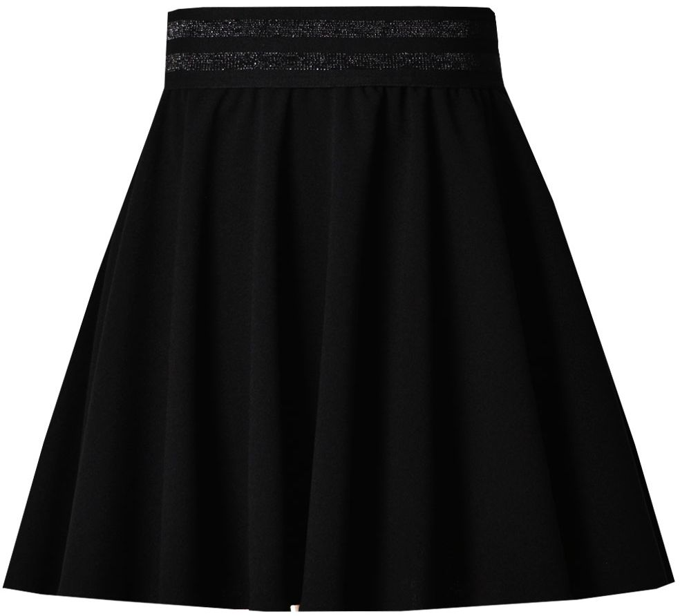 Rozkloszowana spódnica na gumce 122-158 Kasia czarna