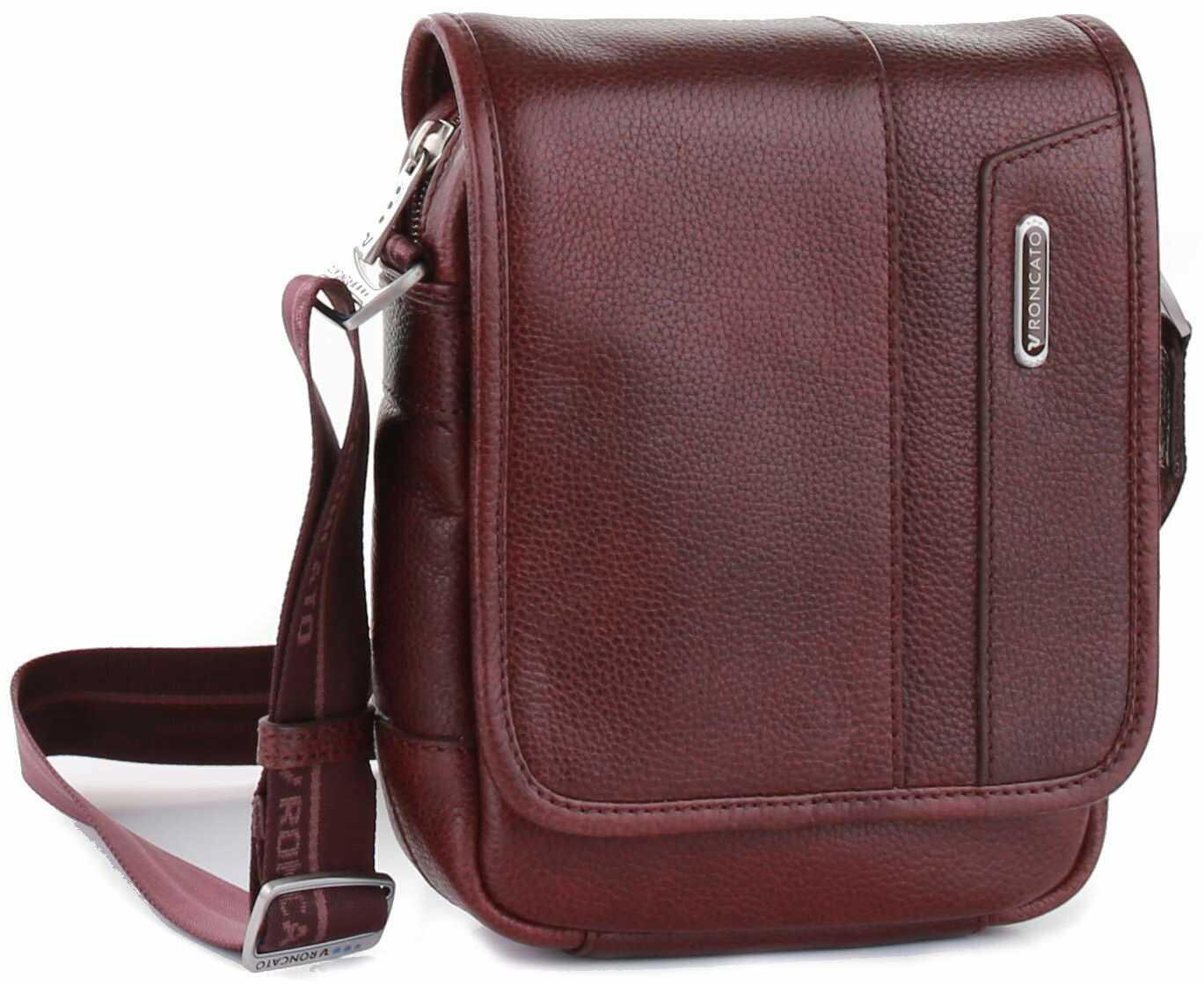 Roncato Panama DLX, Utility Bag z klapą dla mężczyzn S bordowy