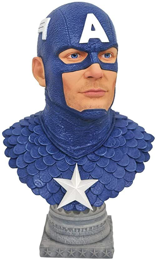LEGENDS IN 3D MARVEL CAPTAIN AMERICA 1/2 SCALE BUST