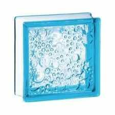Pustak szklany 198 Azure Bubble EI15 E60 luksfer 19x19x8 cm