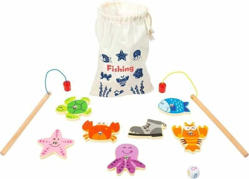Magnetyczne wędkowanie W jeziorze 11366-Small Foot, zręcznościowe gry dla dzieci