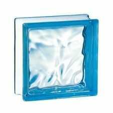 Pustak szklany 198 Azure Flemish EI15 E60 luksfer 19x19x8 cm