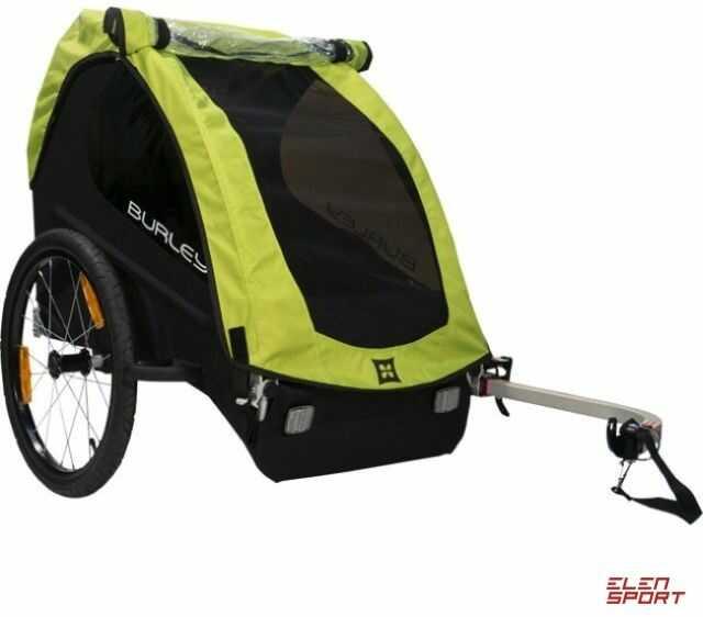 Przyczepka rowerowa dla dziecka Burley Minnow Zielona