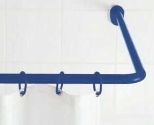 Drążek na zasłonę prysznicową biały 59501