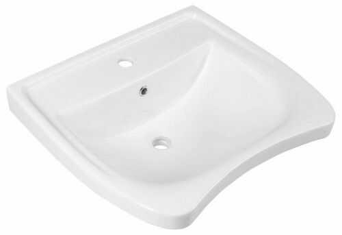 Umywalka ceramiczna 60x55 cm dla niepełnosprawnych montaż naścienny