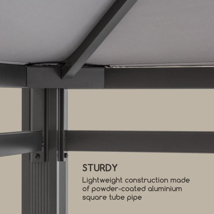 Blumfeldt Pantheon Illumina pawilon z dachem poliwęglan aluminium, czarny