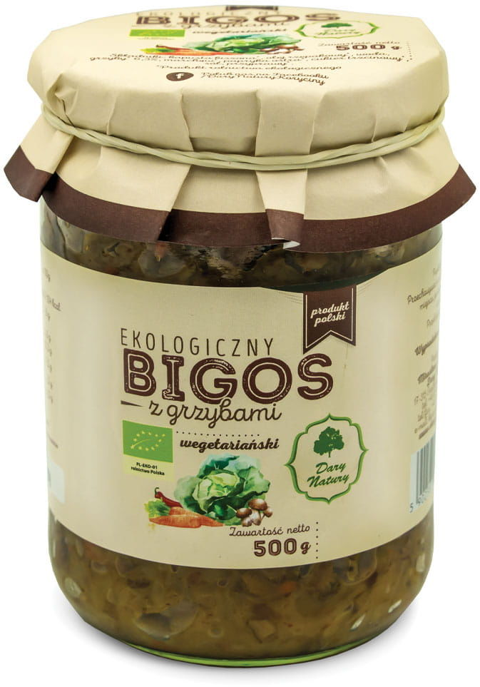 Bigos wegetariański z grzybami bio 500 g - dary natury