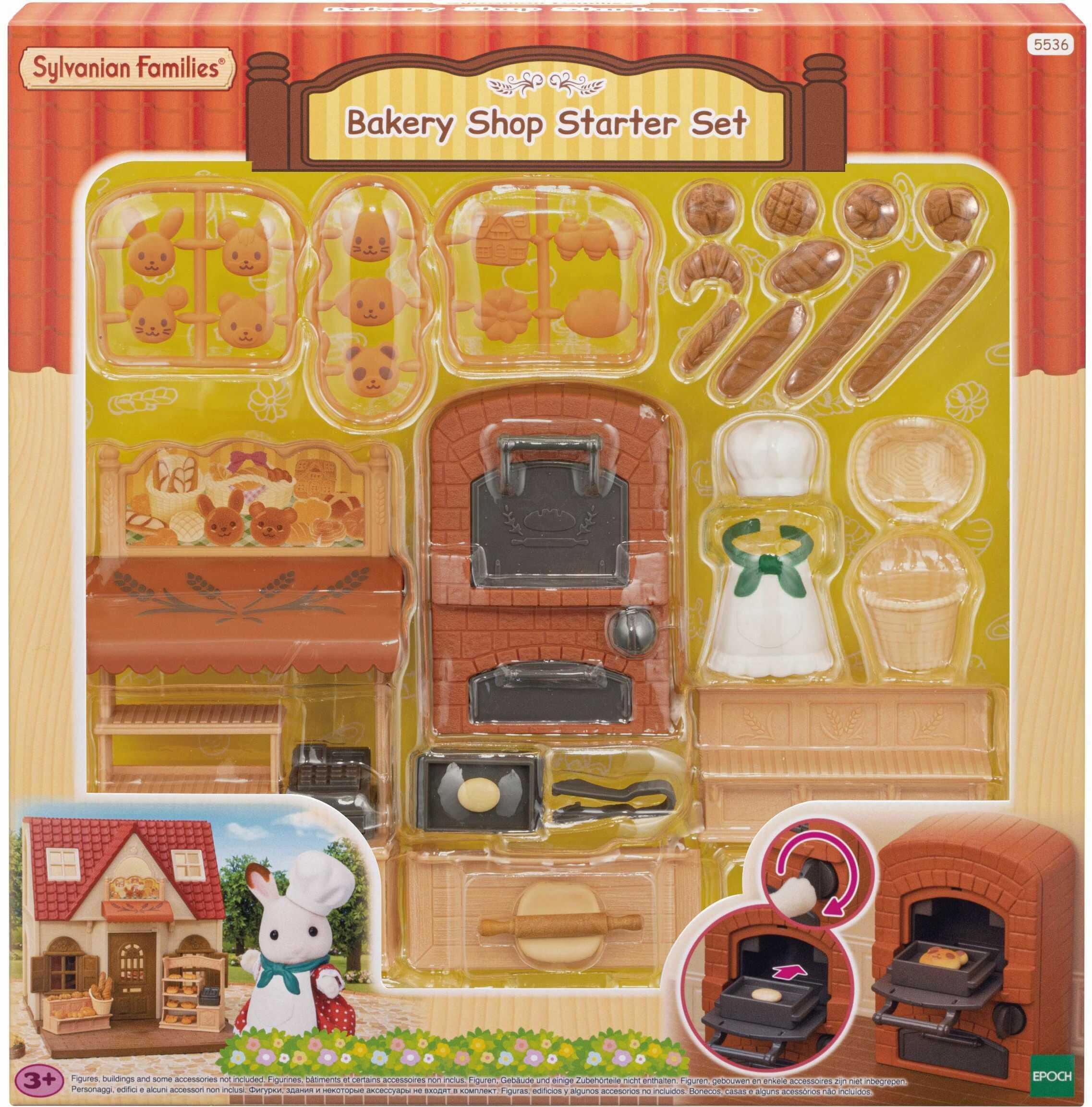 Sylvanian Families 5536 Bakery Shop zestaw startowy - Zestawy do zabawy dla lalek