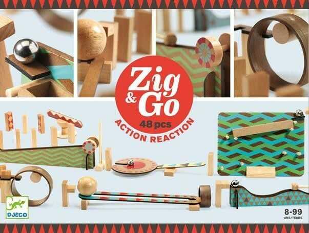Djeco - tor do Układania Zig&go 48 Elementów