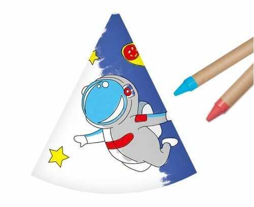 Czapeczki papierowe Pokoloruj Sam, Kosmos