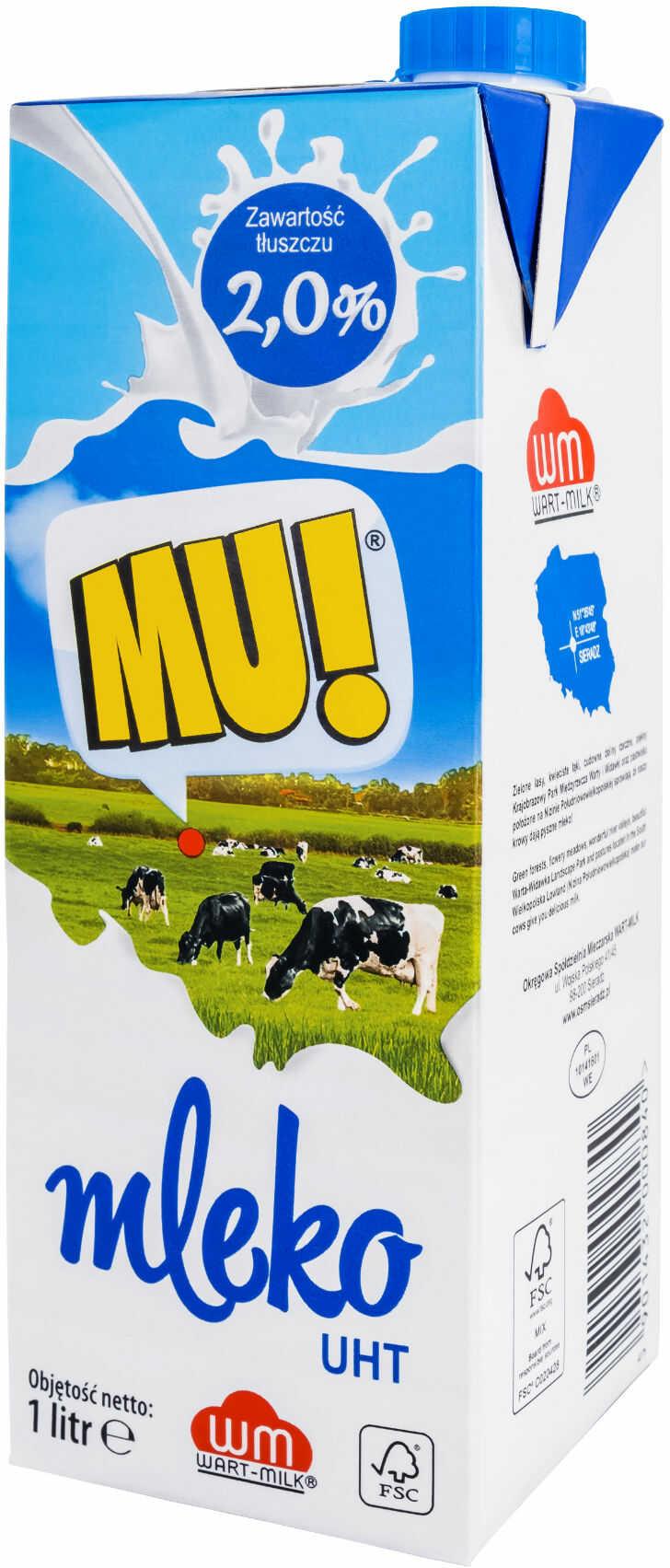 Mleko UHT 1l 2% MU!