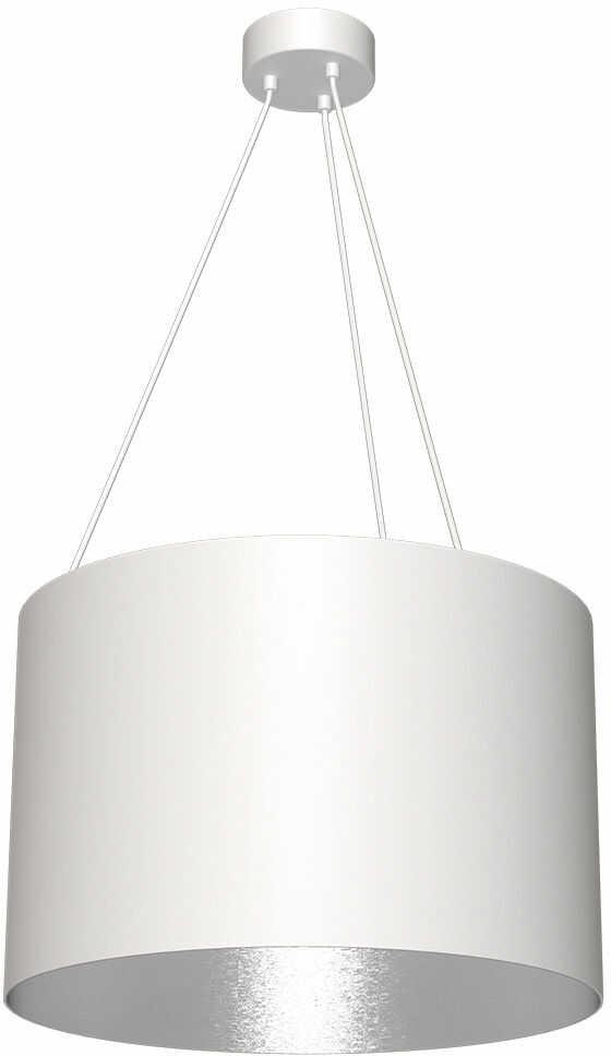 Milagro ROBIN MLP4481 lampa wisząca biała metal i kompozyt klosz geometryczny w kształcie walca 1xE27 50cm