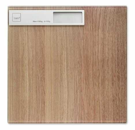 Waga łazienkowa wzór drewno dębowe Kela