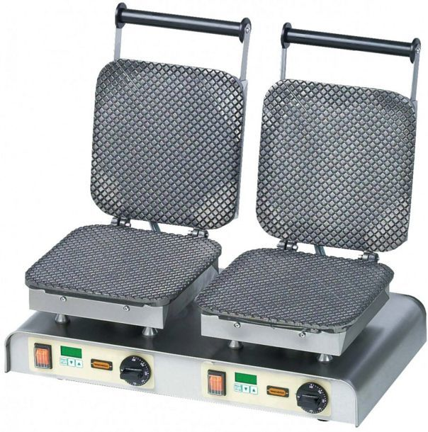 Gofrownica podwójna Ice Waffle 400V / 4,4kW
