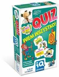 Quiz - Wiem wszystko! IQ ZAKŁADKA DO KSIĄŻEK GRATIS DO KAŻDEGO ZAMÓWIENIA
