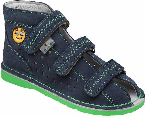 Kapcie profilaktyczne buty DANIELKI T105E T115E Jeans Zielony - Granatowy Jeans Zielony Multikolor