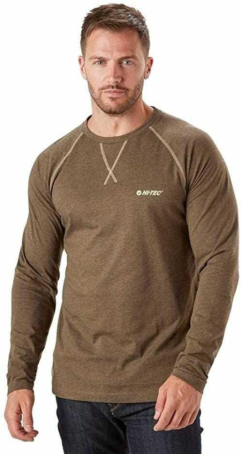 HI-TEC męska koszulka REEVE, ciemna czekolada, mała