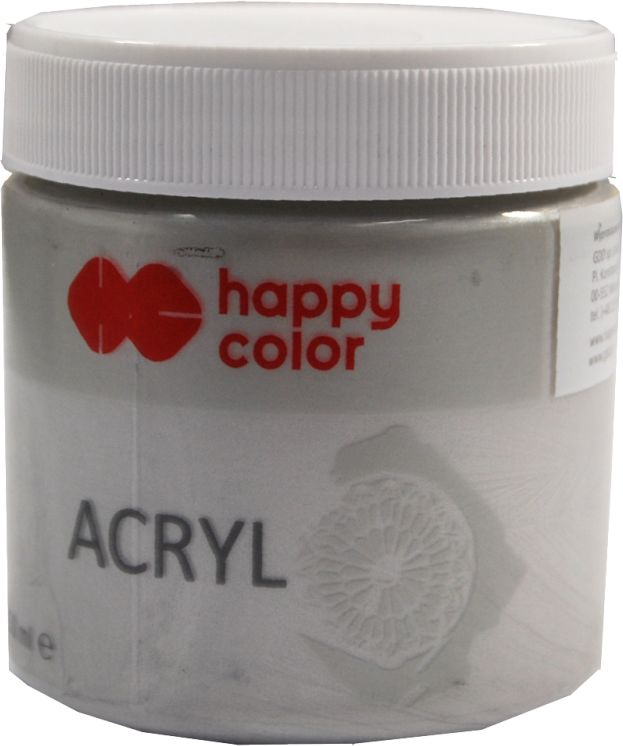 Farba akrylowa Happy Color 250ml HC006609 HC036989, Kolor: Srebrny