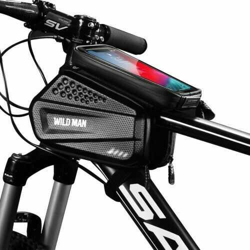 """Uchwyt rowerowy, potrójna sakwa na ramę Wildman Hardpouch """"XXL"""", czarny"""