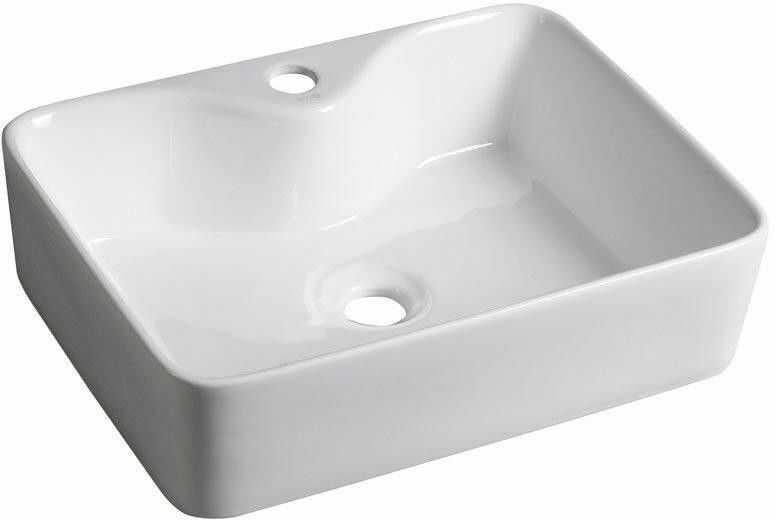 BALENA Umywalka ceramiczna nablatowa 48x37 cm BH7013