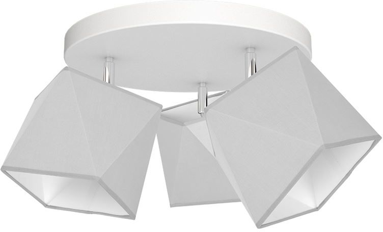 Milagro FRANK MLP4706 plafon lampa sufitowa szary abażur tkanina nieregularny kształt 3xE27 40cm