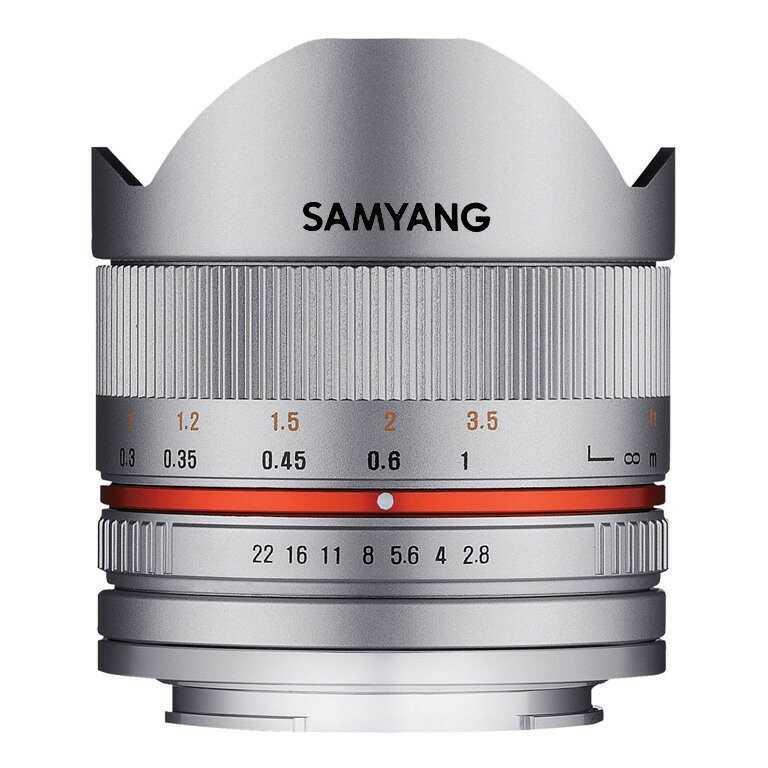 Obiektyw Samyang 8mm f/2.8 UMC Fish-eye II Srebrny Canon M