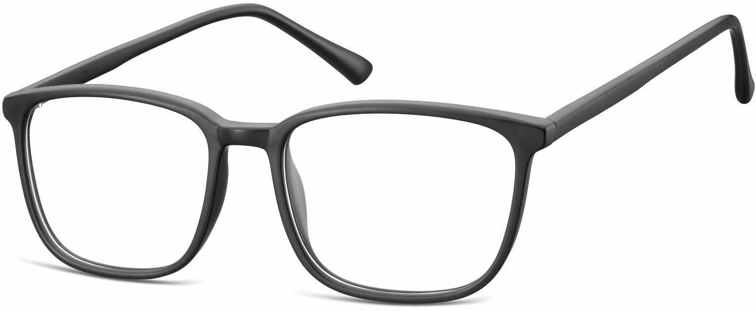 Okulary oprawki korekcyjne Nerdy zerówki Sunoptic CP128 czarne