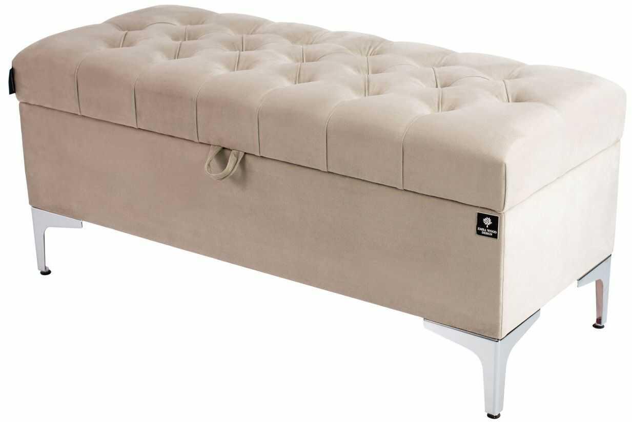 Kufer Pikowany CHESTERFIELD Beż / Model Q-1 Rozmiary od 50 cm do 200 cm