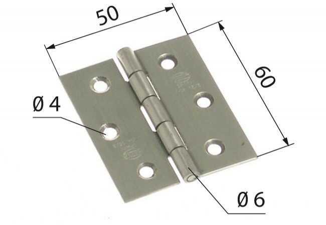 Zawias 2002-60x50 INOX