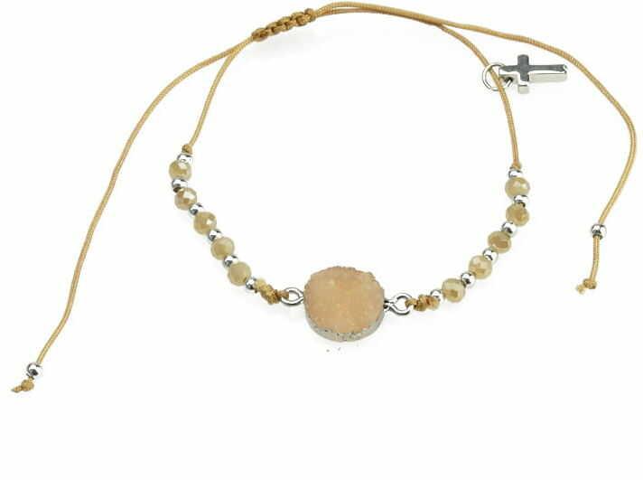 Dziesiątka różańca bransoletka religijna ze złotą cyrkonią