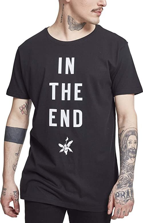 MERCHCODE T-shirt męski Linkin Park in The End Tee czarny czarny S