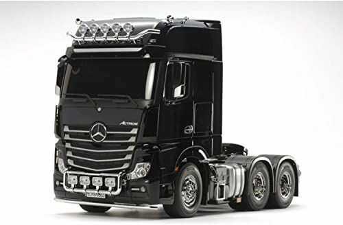 Tamiya 300056348 Mercedes-Benz RC Volvo FH16 Globetrotter 750 6 x 4 drewniane ciężarówki 56360 1:16 zestaw montażowy, czarny