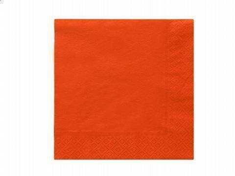 Serwetki 3-warstwowe 33 cm, pomarańczowe - 20 szt.