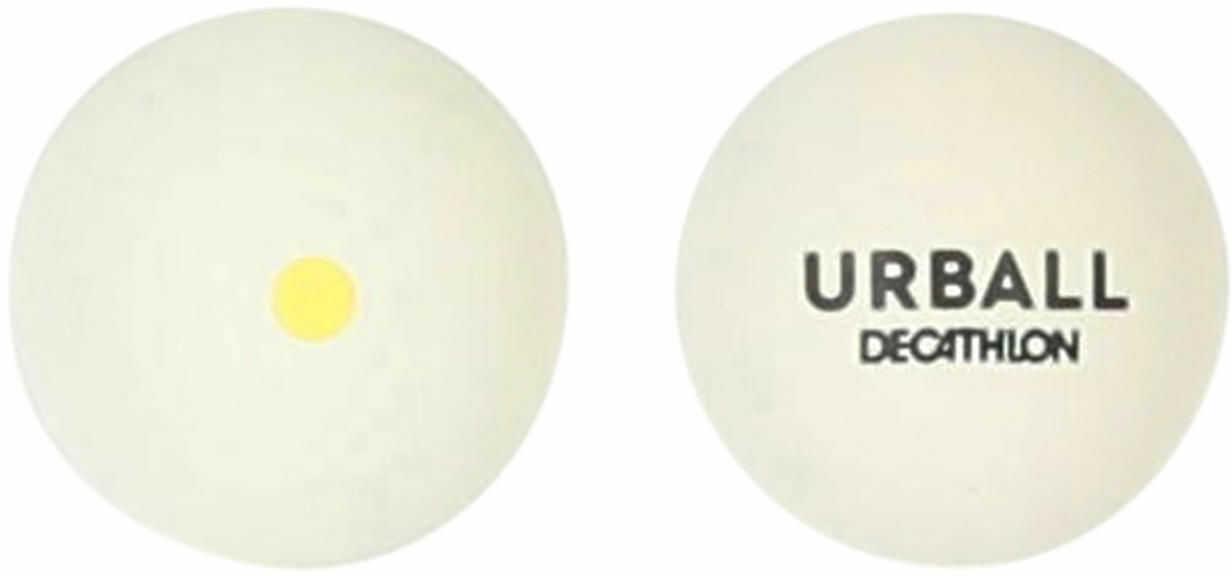 Pelota Pala Gomma  GPB 500 biała z żółtą kropką (piłka)
