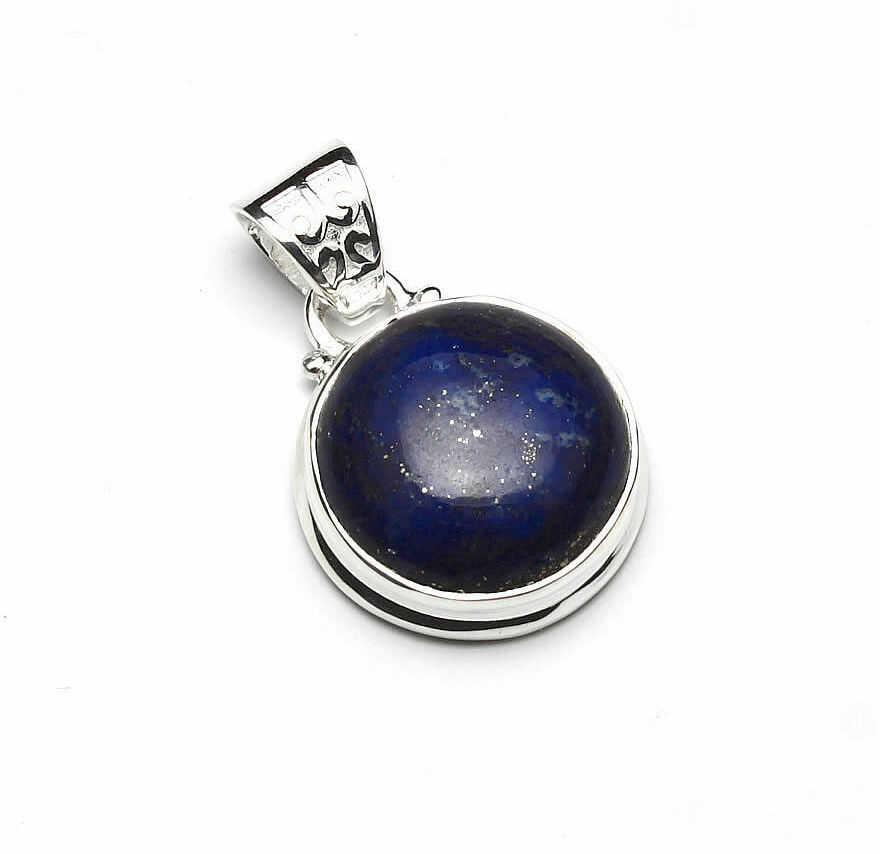 Kuźnia Srebra - Zawieszka srebrna, 28mm, Lapis Lazuli, 6g, model