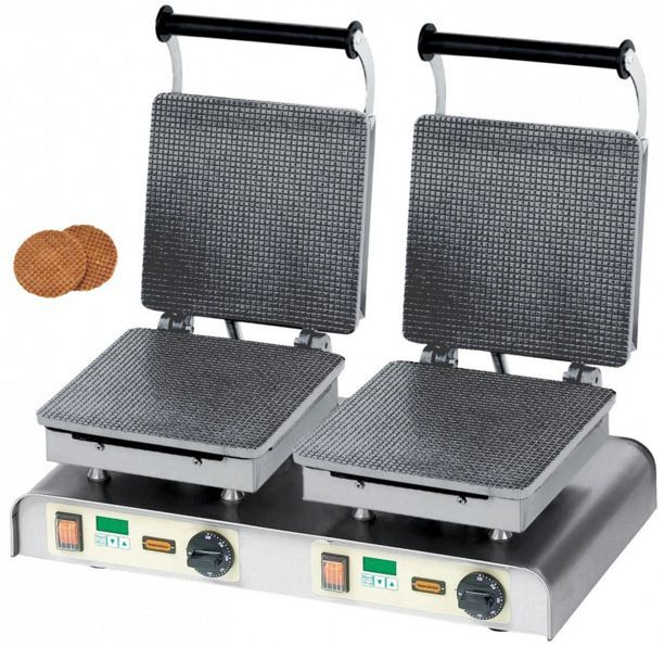Gofrownica podwójna Stroop Waffle 400V / 4,4kW