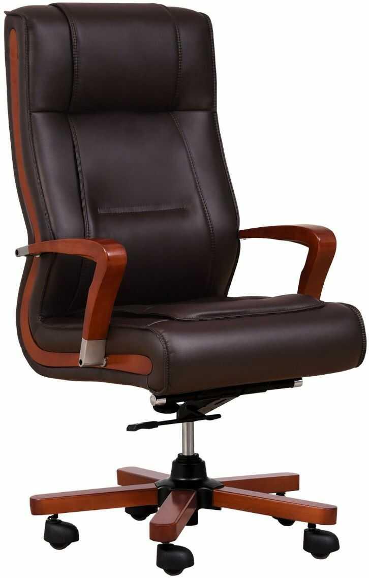 Fotel skórzany AMBASSADOR brązowy