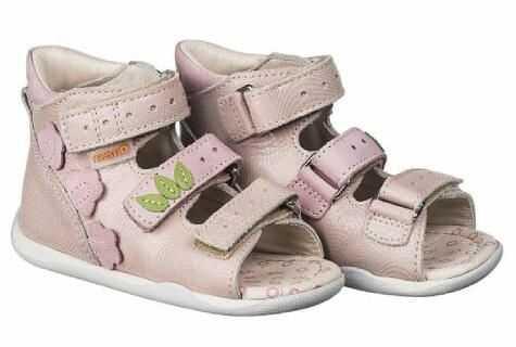 MEMO BABY Start Dino 1JB profilaktyczne sandały na rzepy dla dziewczynek różowe do nauki chodzenia