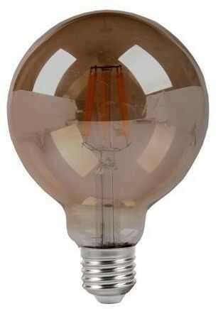 Żarówka filament LED G120 globe E27 8W smoked - przydymiona