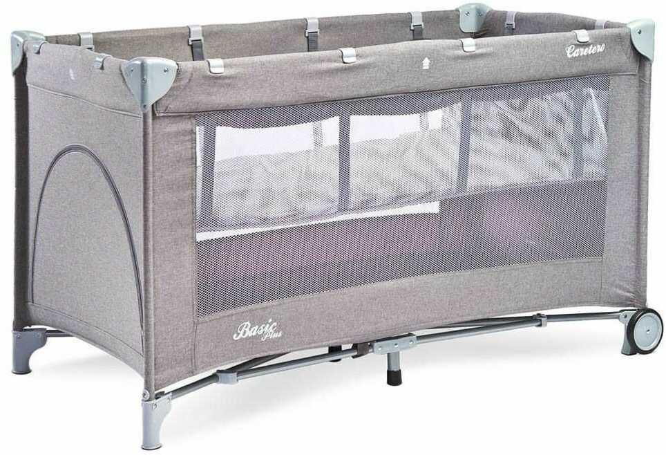 Caretero łóżeczko turystyczne basic plus grey