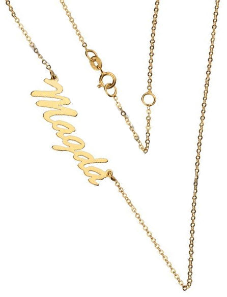 Złoty naszyjnik 333 łańcuszek z zawieszką imię Magda 1 g